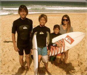 五十嵐カノアと家族