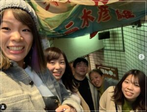 川井梨紗子選手と家族