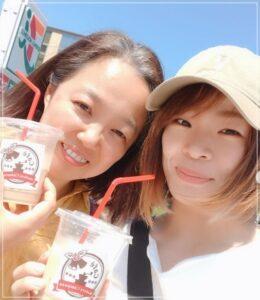 川井梨紗子選手と母親の初江さん