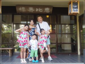 桂宮治の奥さんと子供