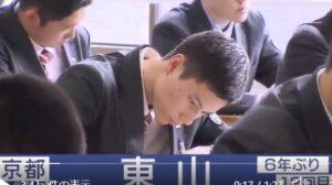 髙橋藍選手の高校での勉強している姿