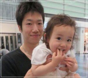 水谷隼選手と娘