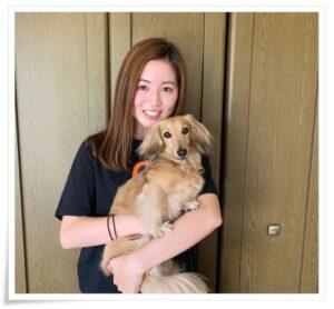清水梨紗と愛犬
