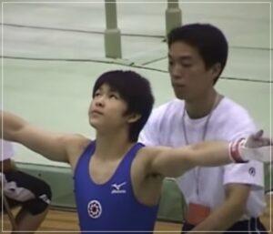 高校時代の内村航平選手2